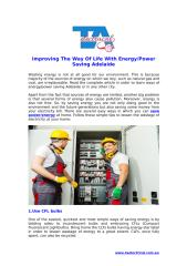 Enhancing The Way Of Living With Energy & Power Saving Adelaide.pdf