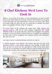 8 Chef Kitchens we'd love to cook in.pdf