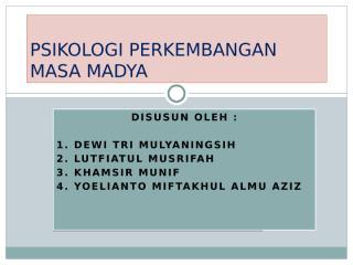 Perkembangan Masa Madya Mahasiswa 2.pptx