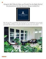 Going for Bali Villas for Rent can Provide You the Right Kind of Accommodation Facility You have Always Looked For!.pdf