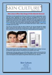 Skin Culture Offers New Range Of Skin Blemish Removal.pdf