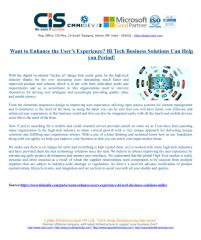 Want to Enhance the Users Experience Hi Tech Business Solutions Can Help you Period.pdf