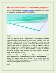 What is the difference between acrylic and Plexiglass plastic.pdf