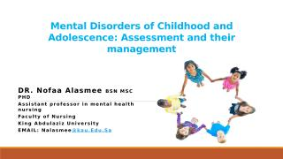 Mental Disorders of Childhood and Adolescence and their management.pptx