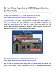 Paving Stone Supplier in UK US Russia Imperial Exports India.pdf
