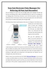 Tens Unit Electronic Pulse Massager For Relieving All Pain And Discomfort.doc